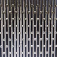 Slotted Stainless Steel Perforated Sheet