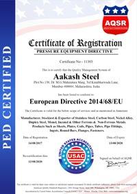PED Certificate